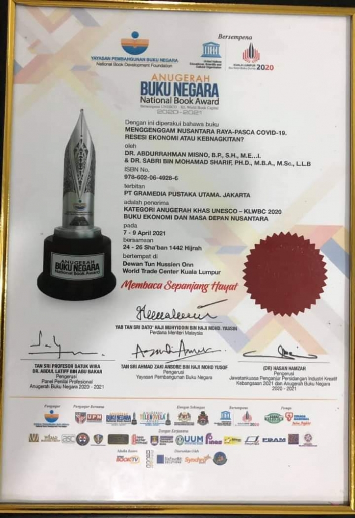 Dosen PPs INAIS Bogor Mendapatkan Anugerah Buku Negara di Malaysia